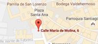 Mapa de la consulta del Dr. Juan Cuadrado